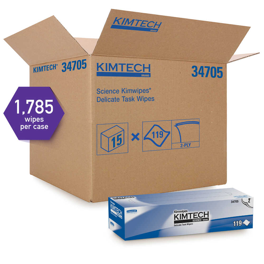 15/119 Kimtech Science;Kinwipes 2ply Wiper Wht