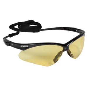 jackson safety v30 nemesis safety glasses amber antifog lenses with black frame