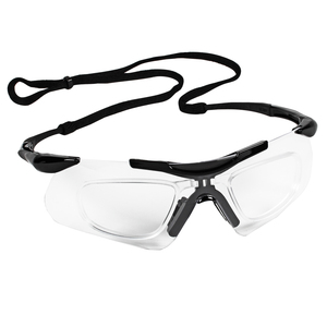 JACKSON SAFETY* V60 SAFEVIEW* Safety Eyewear with RX Insert - Clear Anti-Fog Lens, Black Frame with Black Tips