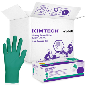 43440 - Kimberly-Clark Spring Green Nitrile Powder-Free Exam Gloves, L