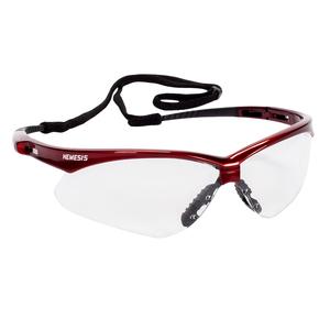 jackson safety v30 nemesis safety glasses clear antifog lenses with infernored frame