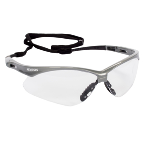 JACKSON SAFETY* 47388 V30 Nemesis* Safety Glasses, Clear Anti-Fog Lenses with Silver Frame