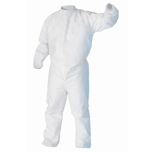 49831 - KIMTECH PURE A5 Cleanroom Apparel Bulk packed, White with Thumb loops, bound seams and high neck collar. Size SM