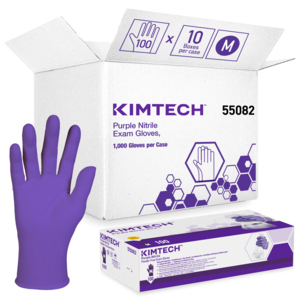 KIMBERLY-CLARK* PURPLE NITRILE* Exam Gloves M