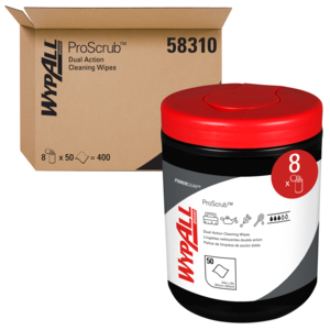 Wypall Orange Citrus Cleaning Wipes – 8 Canisters